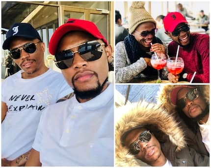 Somizi and Mohale don't seem fazed by the alleged cheating drama