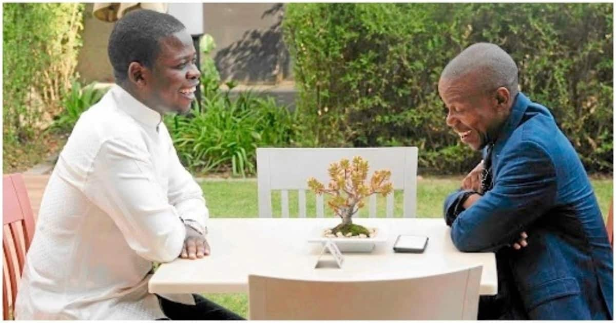 'Prophets' Bushiri and Mboro during their recent meeting. Source: Sunday World
