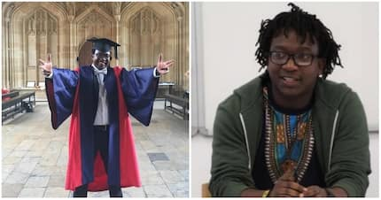 Man graduates from Oxford University, where he's also a lecturer