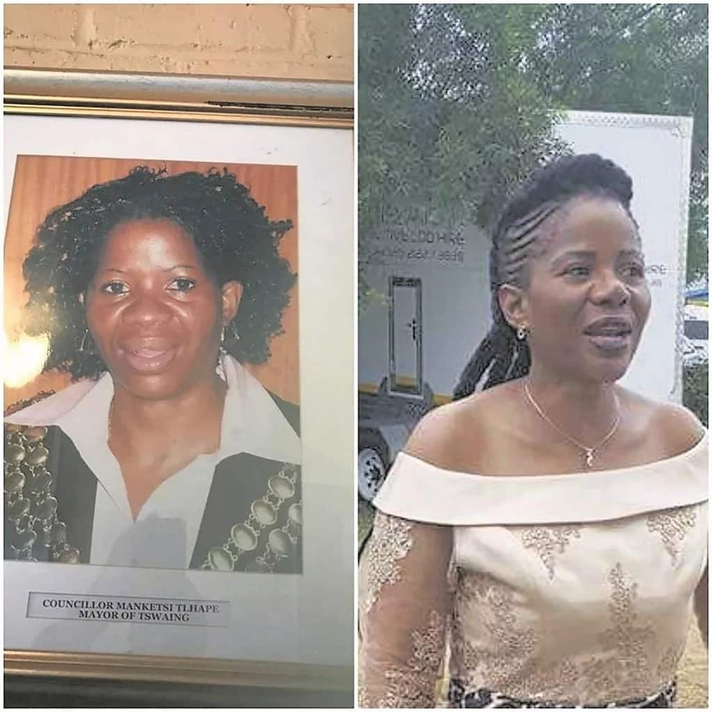 One of the images doing the rounds on social media about Manketsi's nose job. Source: Dailysun.co.za