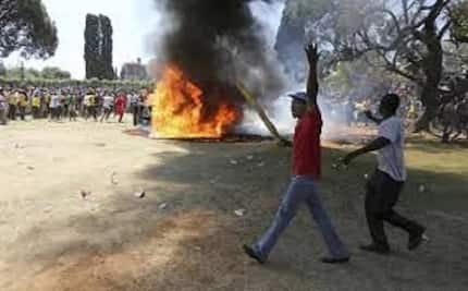 Violent protests near Roodepoort