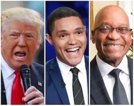 """That's why he survived another vote of no confidence: Trevor Noah compares """"cute"""" Zuma and """"stupid"""" Trump"""