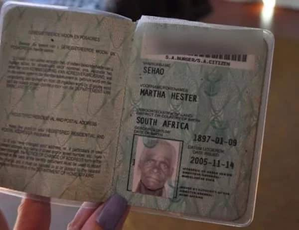 Sehao's ID book. Source: potchefstroomherald.co.za