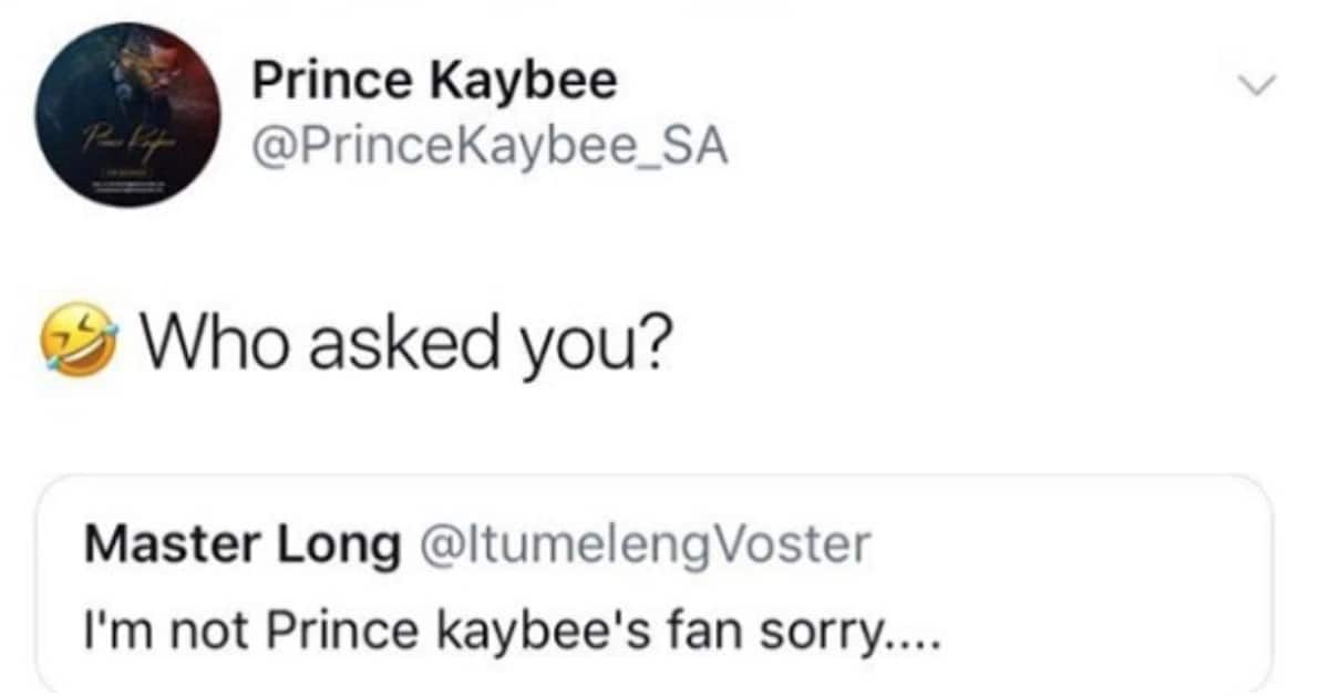 Not a fan of DJ Prince Kaybee? He doesn't care, he has his loyal fans