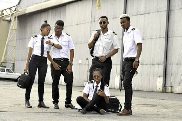 The young aviators include (L-R) Kopano Mafoko, David Matonya, Tsepo Seakhoa, Takatso Mokgatsane and Letladi Mosena (seated). Source: Sowetan Live