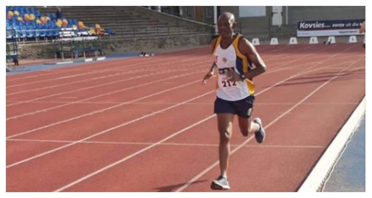 Captain representing South Africa in the Spain Police Athletics