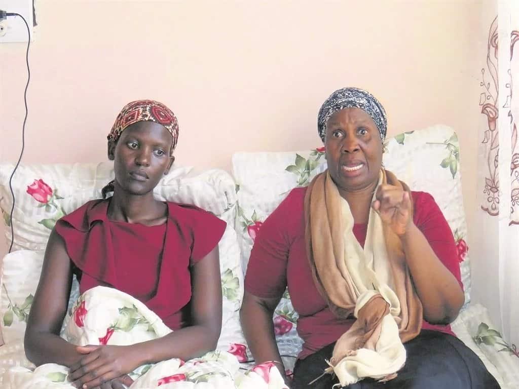 Zanele (left) pictured with her mom, Nomathamsanqa Dlamini. Source: Daily Sun