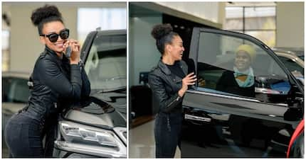 Pearl Thusi's new whip is sexy, sleek and has her looking fine