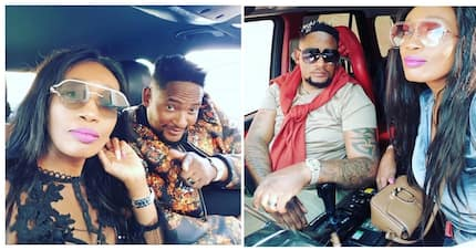 Sophie Ndaba and hubby Max sport brand new matching diamond-encrusted watched