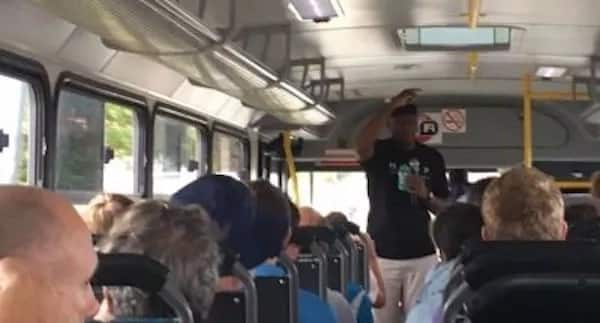 The pastors took the congregants on a bus tour to the townships. Source: gatewaynews.co.za