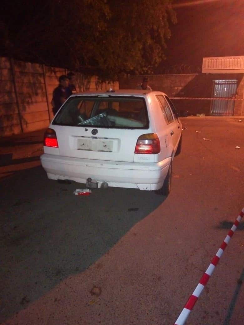 The car the four men allegedly stole. Source: News24