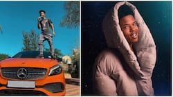 Rapper Nasty C shows off his absolutely sleek Mercedes-Benz 2018 A-Class