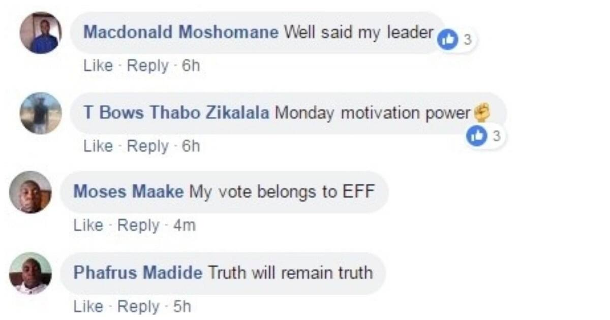 EFF supporters