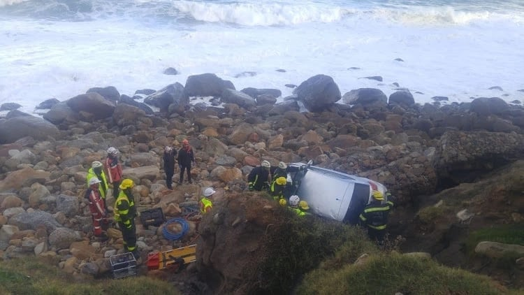 Friday 13th turned out to be a lucky day for motorist who plunged off cliff