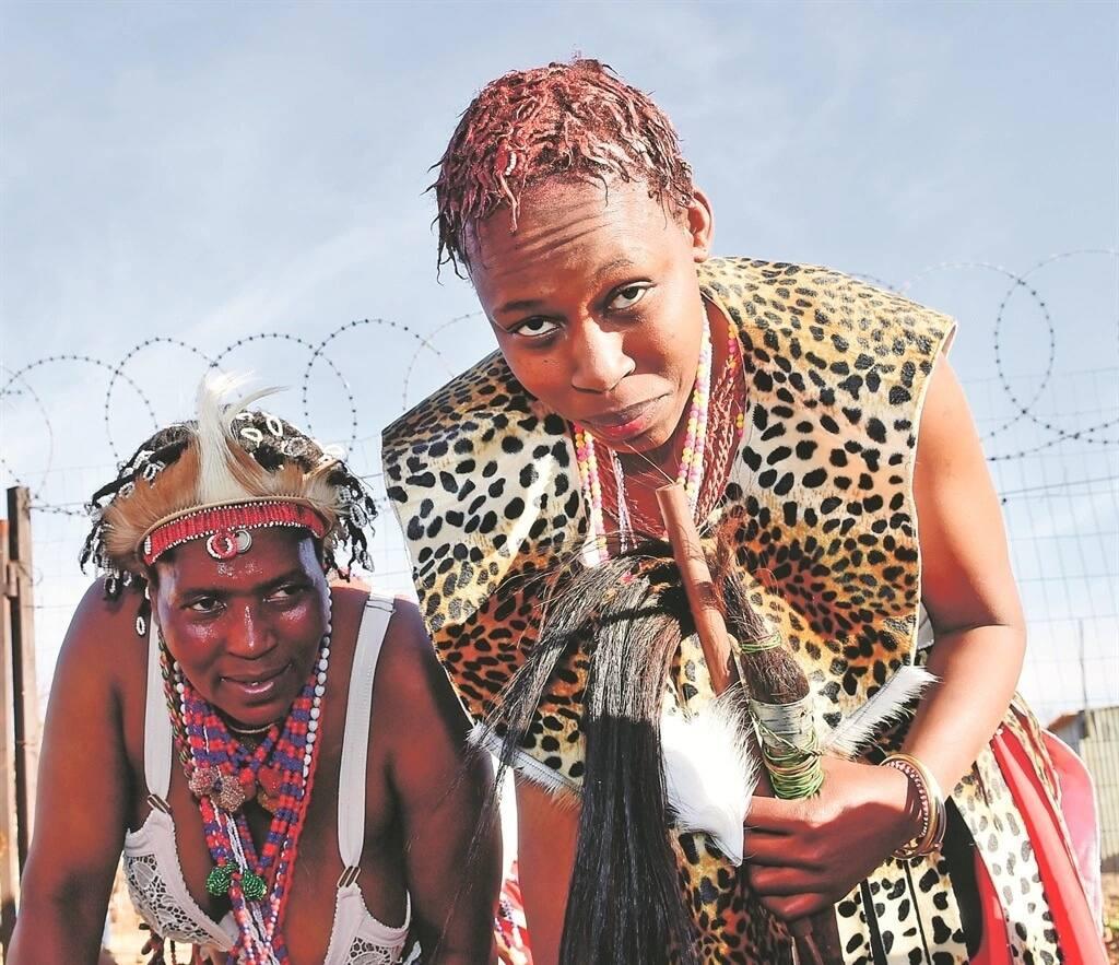 Portia Mohapi (right)at her graduation. Source: Daily Sun/Noko Mashilo