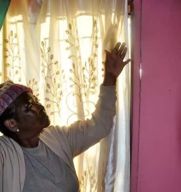 Gogo Khotlele inside her RDP house. Source: Daily Sun