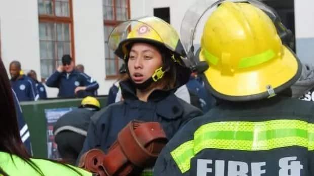 Single Baigum Abrahams, 23, won the toughest firefighter competition.