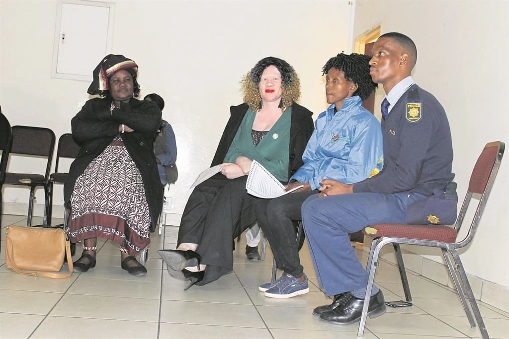 Gogo Sambo (left) pictured with other participants at the imbizo. Source: Daily Sun/Thokozile Mnguni