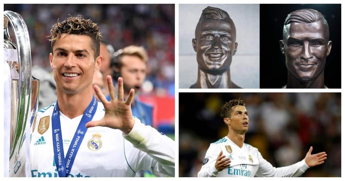 Mocked Ronaldo statue replaced with a new one at Madeira airport