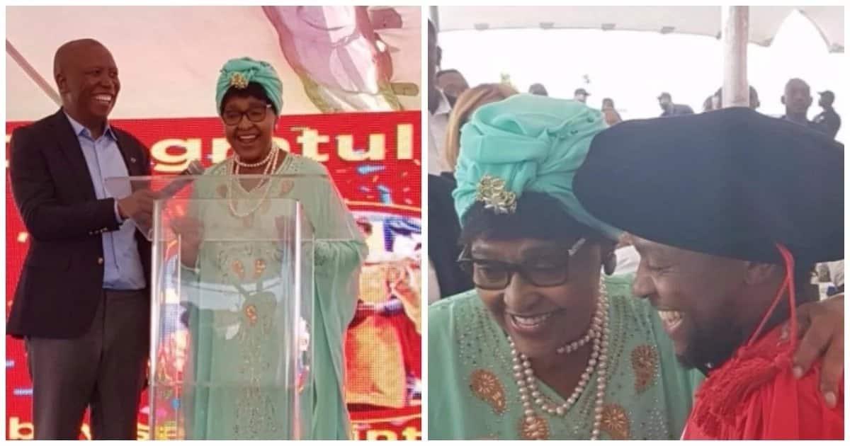 Winnie Mandela part of star-studded graduation party in