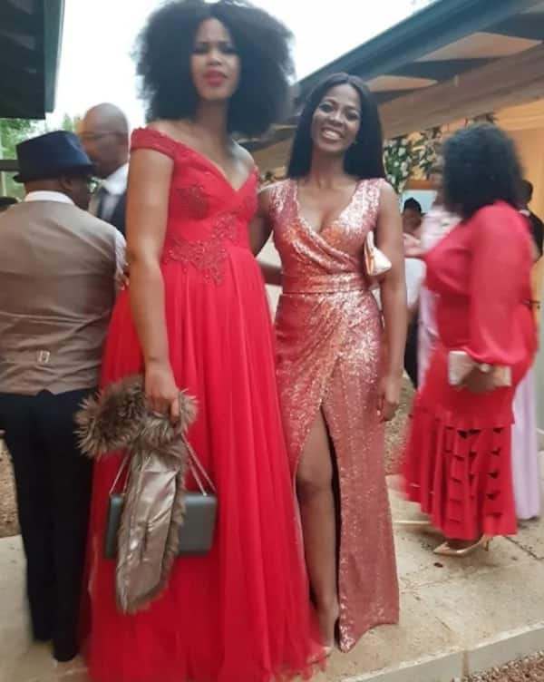 Thembeka (right) with a friend. Source: ZAlebs