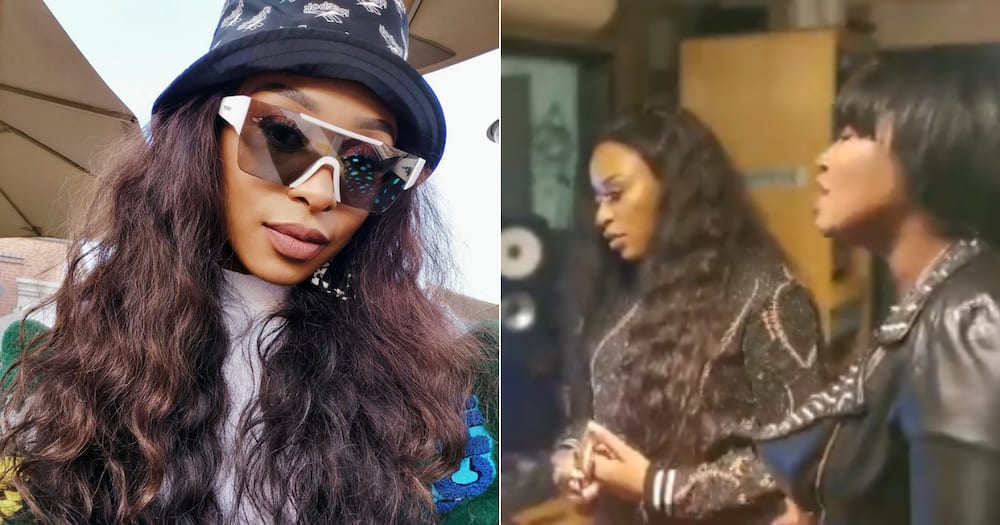 Nice: DJ Zinhle shows off her beautiful motorised patio blinds