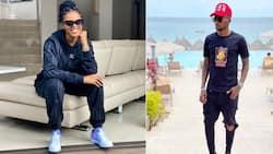 Orlando Pirates star Thembinkosi Lorch & Natasha Thahane serving #BaeGoals