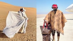"""""""You are wearing R300k"""": Somizi touches down in Namibia, the land of the brave"""