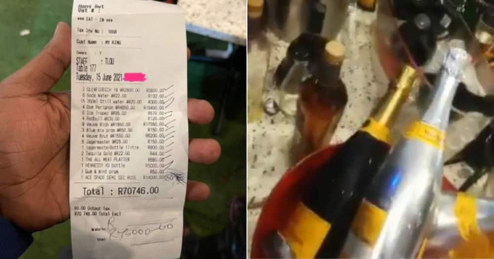 'Iyoh': Man Splashes R70k on One Night's Booze, Mzansi Can't Deal