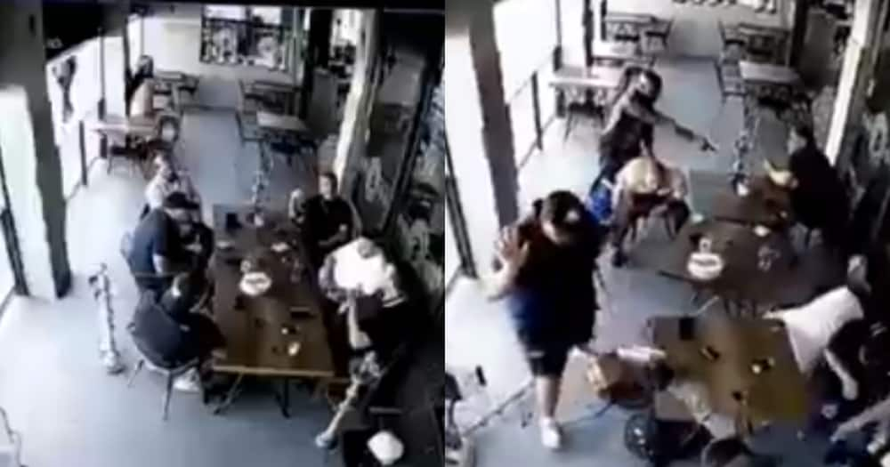Clip of men getting robbed of Rolex
