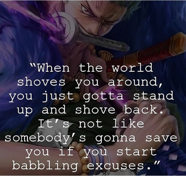 Inspirational quotes from anime