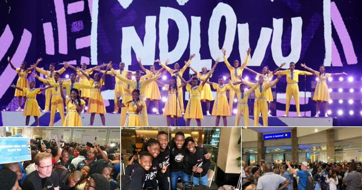Ndlovu Youth Choir 'humbled' by 'amazing' welcome as group lands in SA