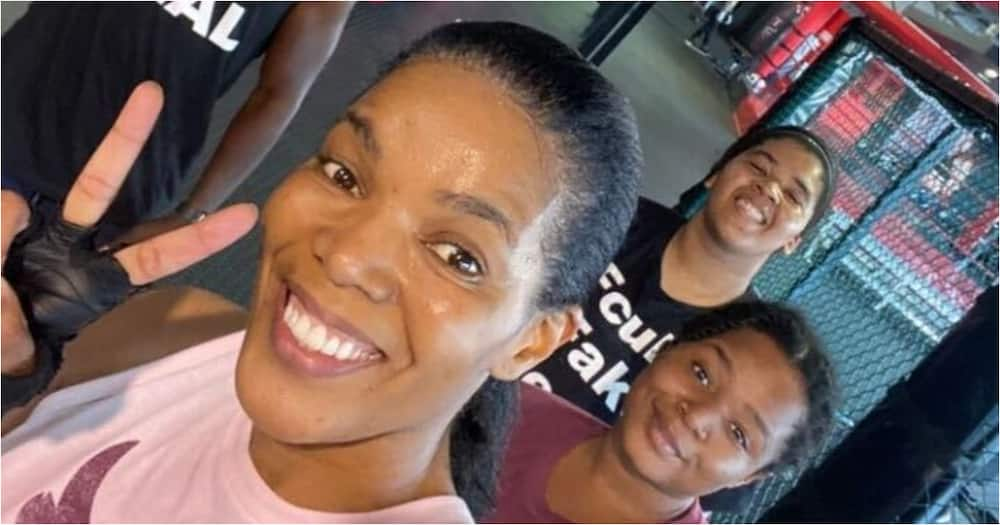 Connie Ferguson and her daughters start 2021 back in the gym