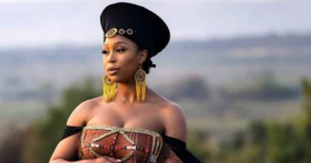 Minnie Dlamini: Momma-to-be stuns in Gert Johan creation