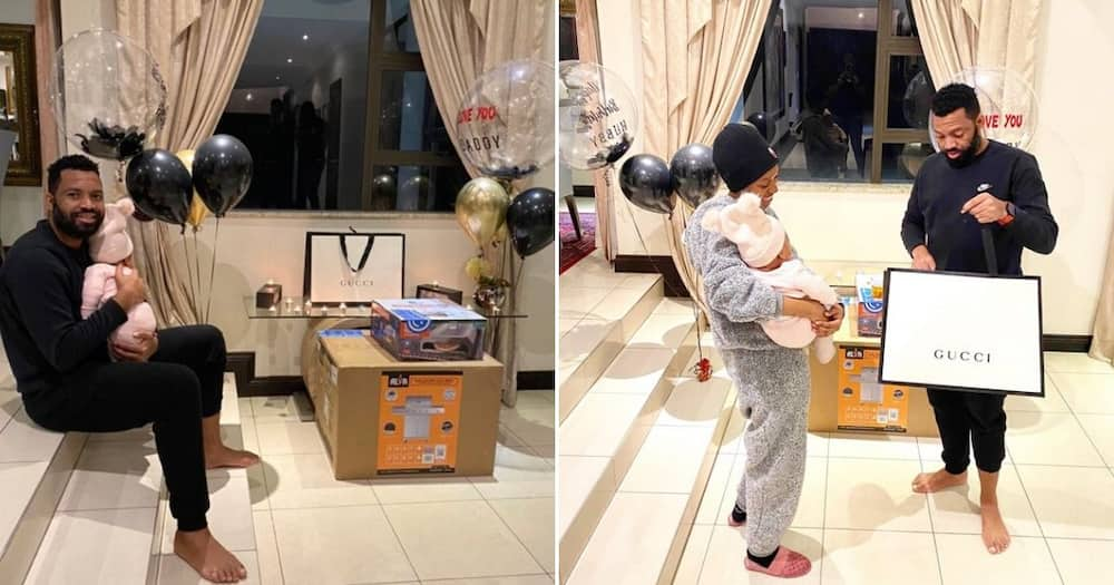 Itu Khune shares the most adorable video of his beautiful baby girl