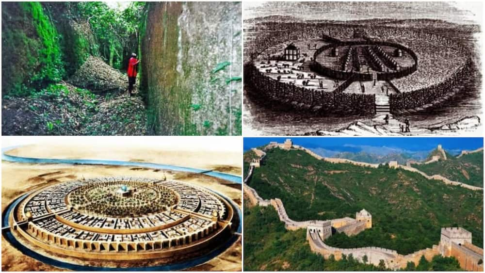 A collage of the pictures showing the wall. Photo source: The African History