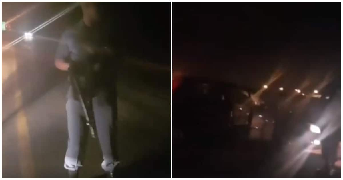 Video shows on-duty SA cop allegedly hijacking couple at gunpoint