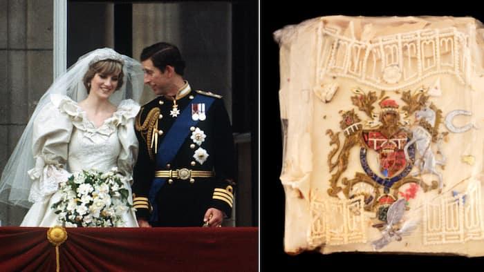 Princess Diana & Prince Charles wedding cake slice on auction for R10k