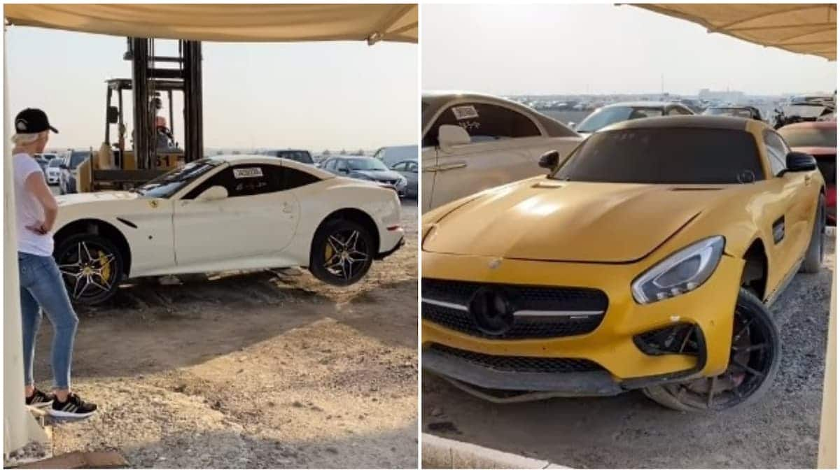Viral Video Shows Dubai Scrapyard Filled With Rolls Royces Supercars