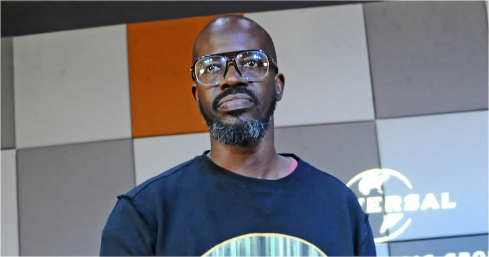 Black Coffee pictured on a Times Square billboard in New York City