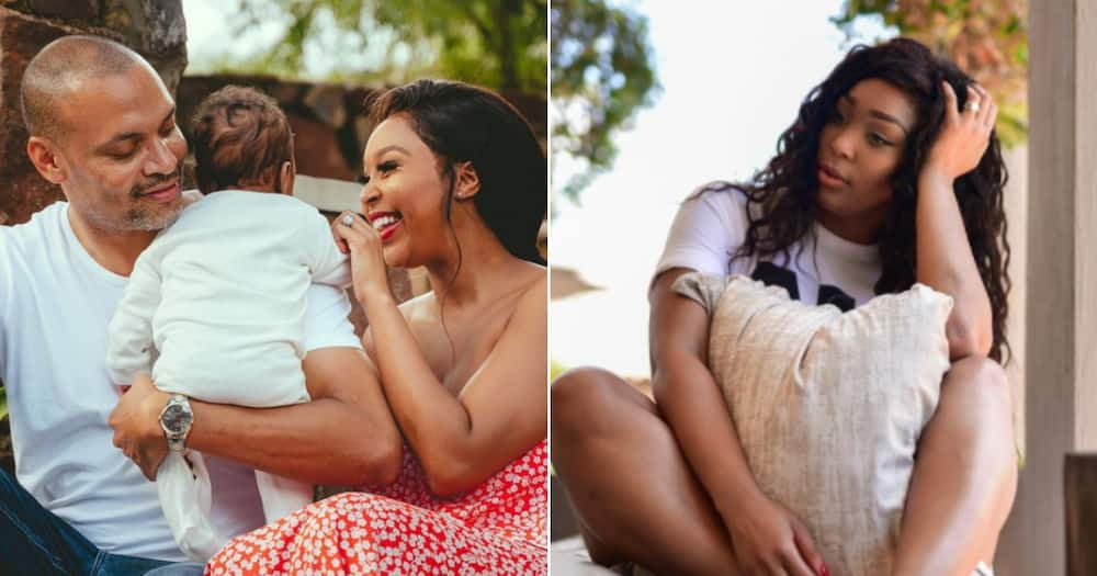 Minnie Dlamini Jones takes baby Netha to get the ocean's blessing