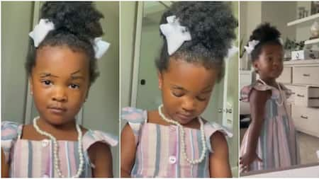 What did I did? Little girl screams in video as she looks herself in the mirror after drawing eyebrows