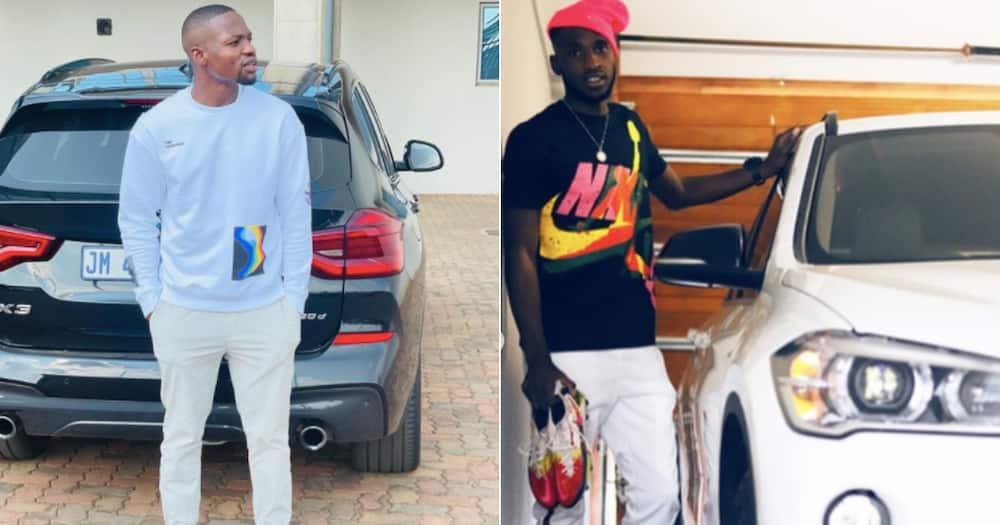 Tshegofatso Mabasa, Fortune Makaringe, Orlando Pirates, BMW, luxury, cars