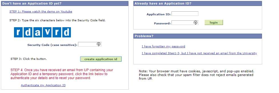 University of Pretoria application 2022