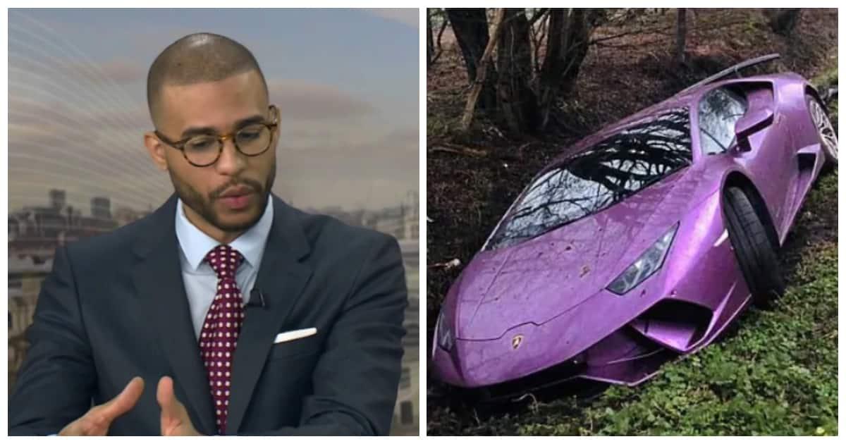 Bitcoin Tycoon Crashes His R5 Million Lamborghini Into A Ditch