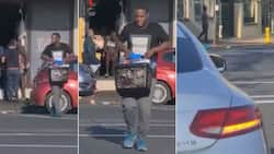 Unbelievable: Mzansi reacts to man driving Mercedes seen looting Woolies in Durban