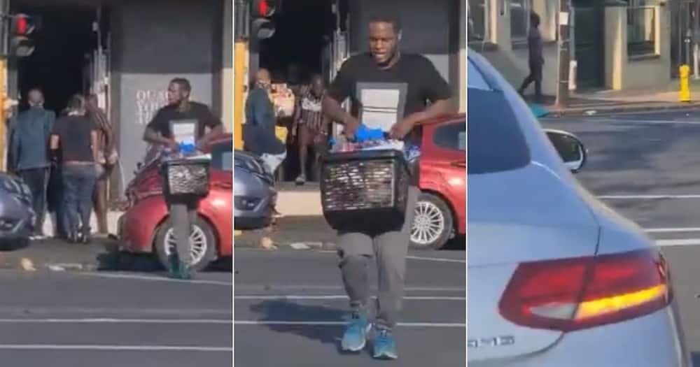 Mzansi, Reacts, Man, Mercedes, Looting, Woolies, Durban
