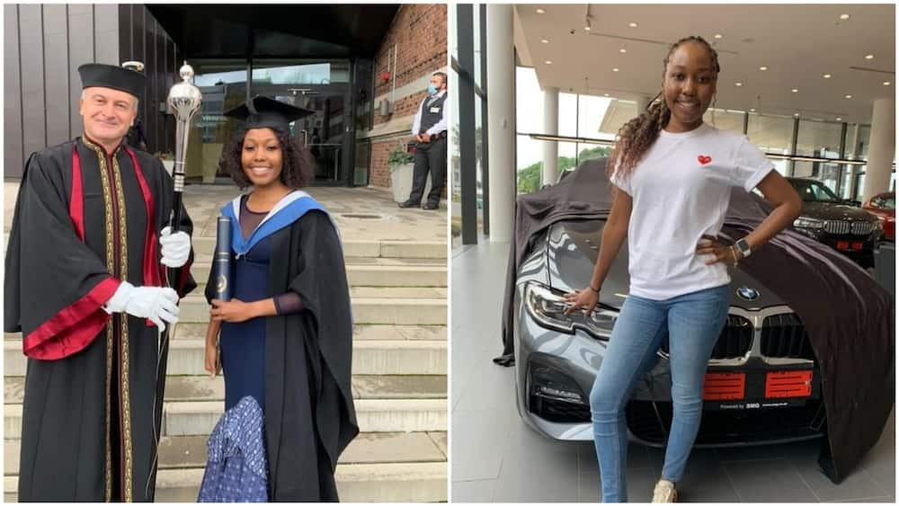 Lady graduates, gets new car all in November, shares cute photos