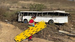 Overturned bus in Kilimon leaves close to 70 churchgoers injured, including children