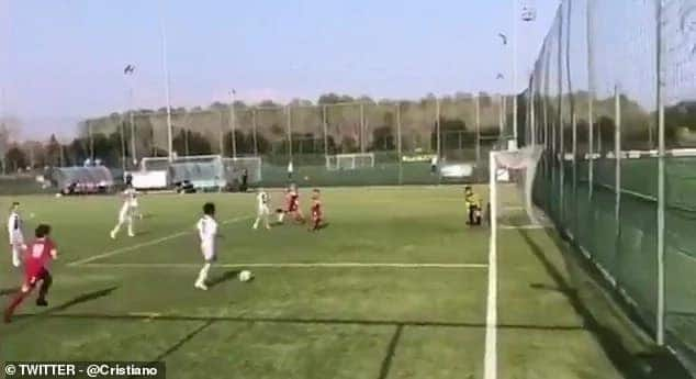 Cristiano Ronaldo Jr copies father by netting a brace for Juventus
